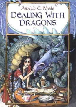 """Cover of Patricia C. Wrede's """"Dealing with Dragons"""""""