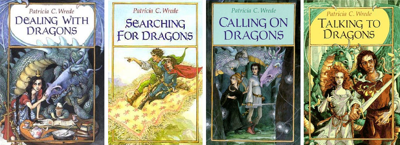 Covers of the Enchanted Forest Chronicles by Patricia C. Wrede