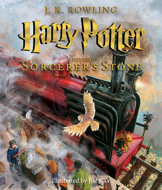 "Cover of J.K. Rowling's ""Harry Potter and the Sorcerer's Stone."""