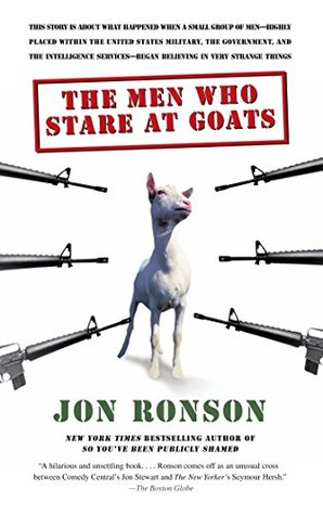 "Book cover of ""The Men Who Stare At Goats"" by Jon Ronson"