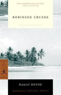 "Book cover of Daniel Defoe's ""Robinson Crusoe"""